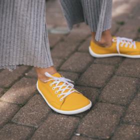 Be Lenka Prime Mustard barefoot shoe