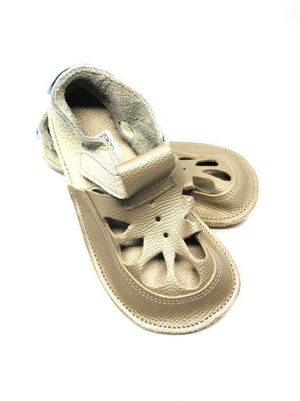 baby bare summer gold barefoot sandals for kids