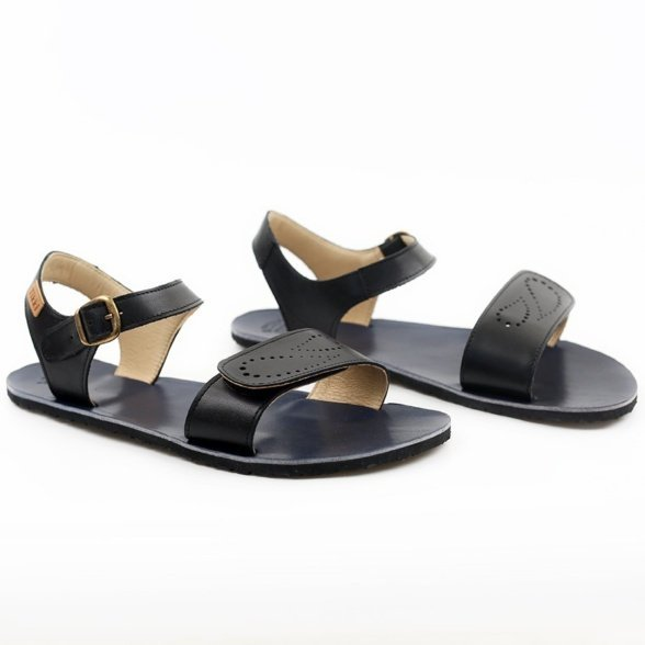 Tikki Vibe infinity black women's sandal