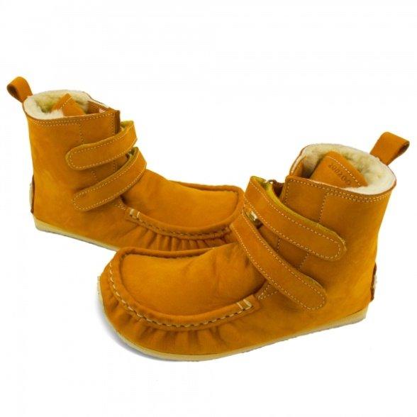 Zeazoo Yeti Camel Sheepskin winter boots for kids, 9mm sole