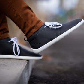 Dark gray barefoot shoes