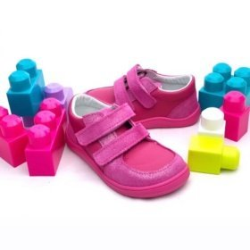 Baby Bare Febo Youth Fuchsia pink sneakers for kids