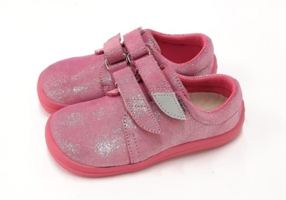 Beda Janette glitter pink kids' leather sneakers