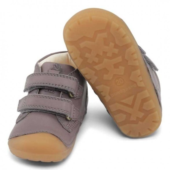 Bundgaard Petit Velcro Dark Grey WS Barefoot shoes