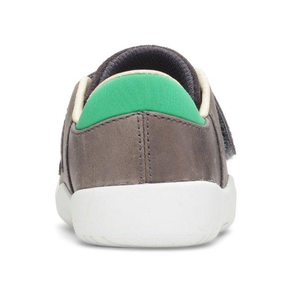 Bungaard Benjamin Velcro Dark Grey WS barefoot sneakers