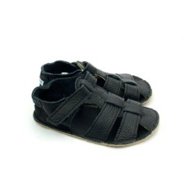 baby bare all black barefoot sandals for kids