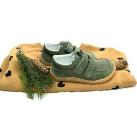 Baby Bare FEBO Youth Army kids leather sneakers