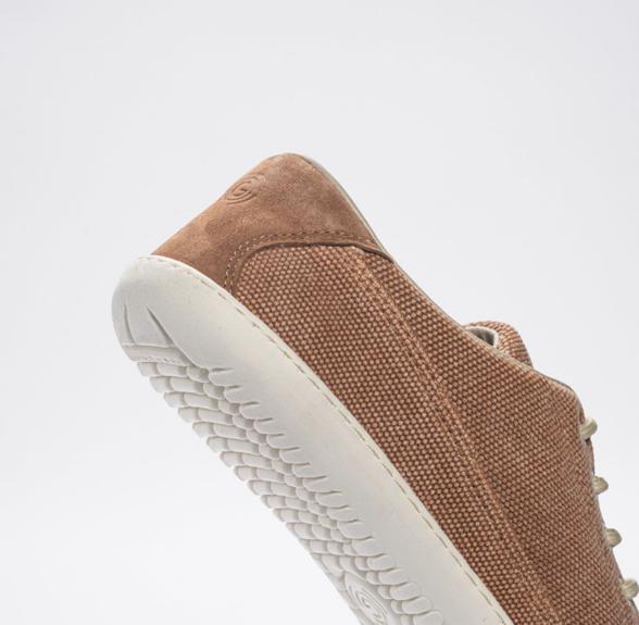 Groundies Amsterdam Camel barefoot sneakers