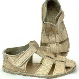 baby bare shimmer gold barefoot sandals