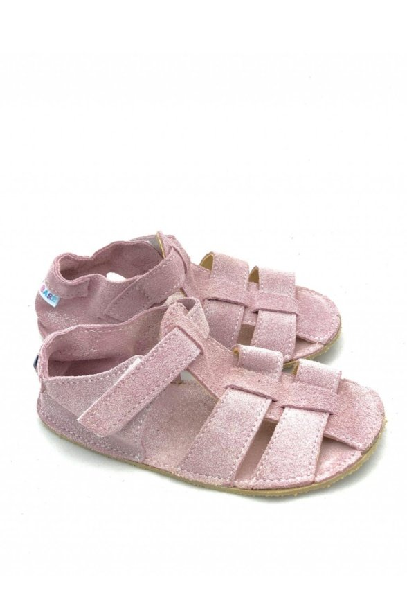 baby bare sparkle pink barefoot sandals