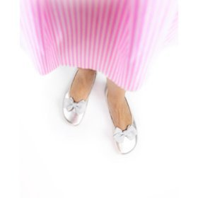 Shapen tulip II silver barefoot ballerinas