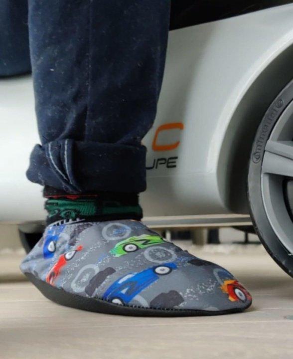 SlipStop Sportscar slippers for kids