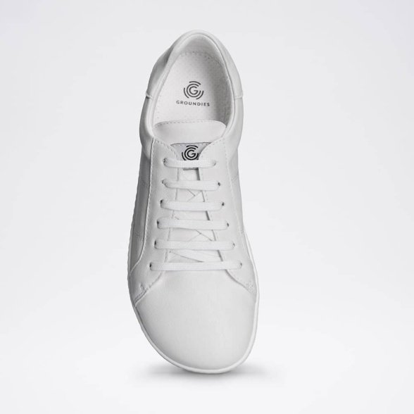 Groundies Sydney White barefoot shoes