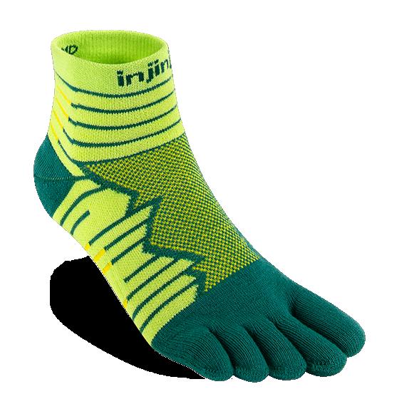injinji run mid crew deco toe socks
