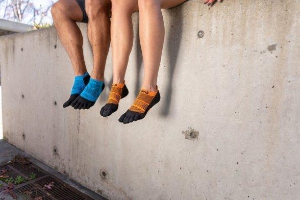 injinji run lightweight noshow coolmax malibu toe socks