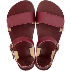 Tikki Vibe Burgundy barefoot sandals