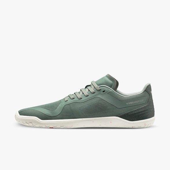 vivobarefoot geo racer mens sea green barefoot shoes