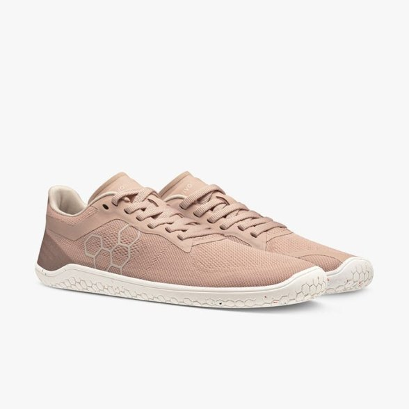 vivobarefoot geo racer II womens misty rose barefoot shoes