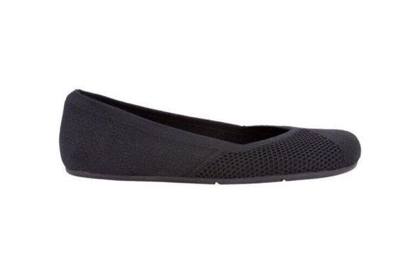 xero shoes phoenix knit black barefoot ballerina
