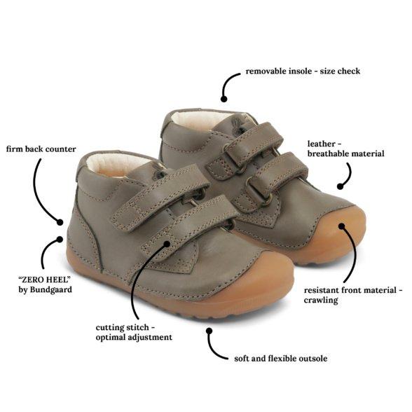 Bundgaard Petit Velcro Army kids' shoes