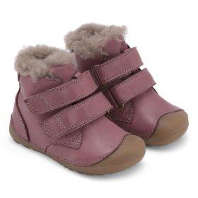 Bundgaard Petit Mid Lamb Dark Rose winter boots for kids