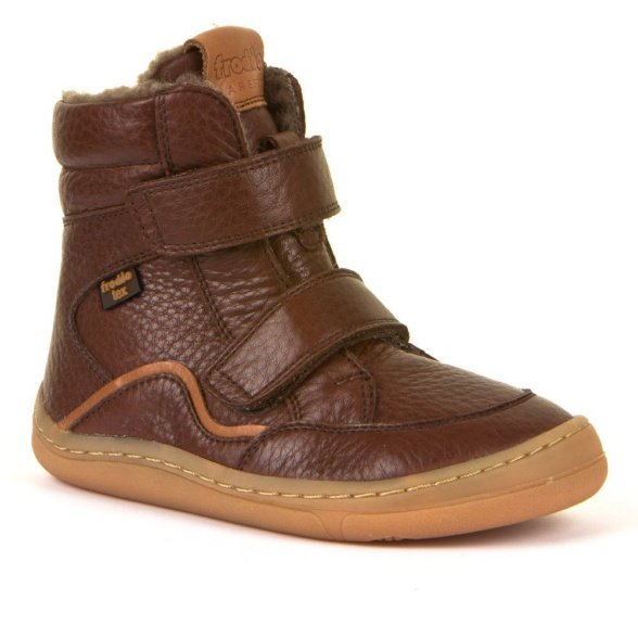 Froddo Barefoot Brown Winter boots with Tex Membrane for kids